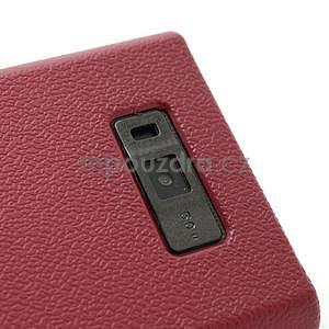 Texturované puzdro pre LG Optimus L7 P700- červené - 4