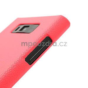 Texturované puzdro pre LG Optimus L7 P700- ružové - 4