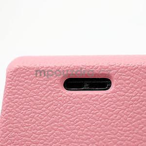 Texturované puzdro pre LG Optimus L7 P700- světlerůžové - 4