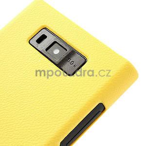 Texturované puzdro pre LG Optimus L7 P700- žlté - 4