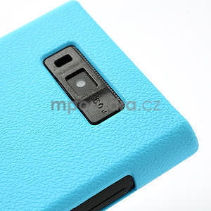 Texturované puzdro pre LG Optimus L7 P700- modré - 4