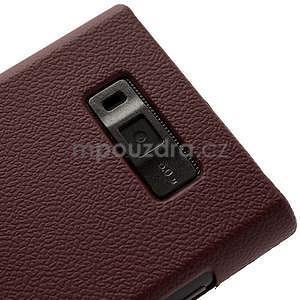 Texturované  puzdro pre LG Optimus L7 P700- hnedé - 4