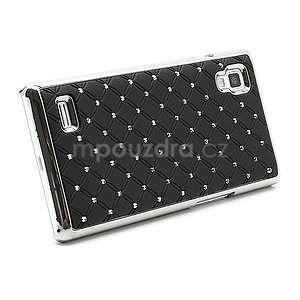 Drahokamové puzdro pre LG Optimus L9 P760- čierné - 4
