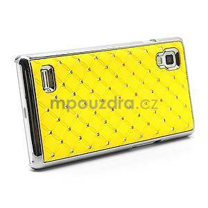 Drahokamové puzdro pre LG Optimus L9 P760- žlté - 4