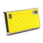 Drahokamové puzdro pre LG Optimus L9 P760- žlté - 4/7
