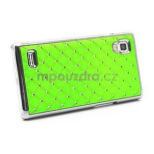 Drahokamové puzdro pre LG Optimus L9 P760- zelené - 4
