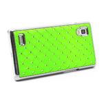 Drahokamové puzdro pre LG Optimus L9 P760- zelené - 4/7