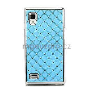 Drahokamové puzdro pre LG Optimus L9 P760- svetlo modré - 4