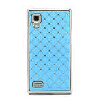 Drahokamové puzdro pre LG Optimus L9 P760- svetlo modré - 4/7