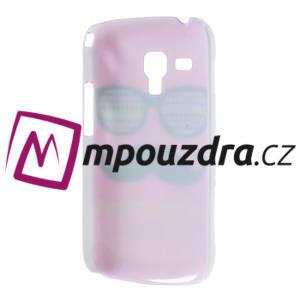 Plastové puzdro na Samsung Trend plus, S duos - růžové kníraté - 4
