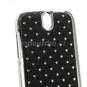 Drahokamové puzdro pre HTC One SV- čierné - 4