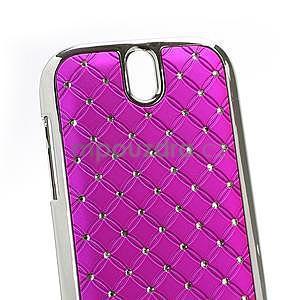 Drahokamové puzdro pre HTC One SV- růžové - 4