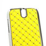 Drahokamové puzdro pre HTC One SV- žlté - 4/5