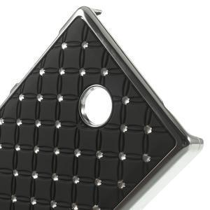 Drahokamové puzdro na Nokia X dual- čierné - 4