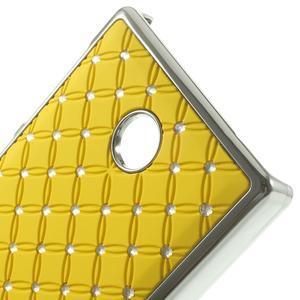 Drahokamové puzdro na Nokia X dual- žlté - 4
