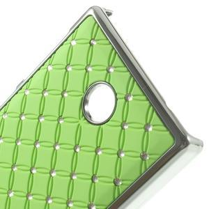 Drahokamové puzdro na Nokia X dual- zelené - 4