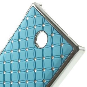 Drahokamové puzdro na Nokia X dual- svetlo modré - 4