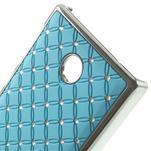 Drahokamové puzdro na Nokia X dual- svetlo modré - 4/5