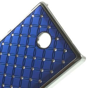 Drahokamové puzdro na Nokia X dual- modré - 4