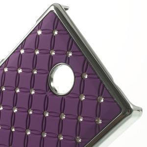 Drahokamové puzdro na Nokia X dual- fialové - 4