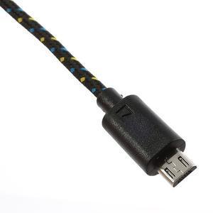 Tkaný odolný micro USB kabel s délkou 2m - černý - 4
