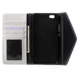 Luxusní peněženkové pouzdro na Huawei P8 Lite - bílé / modré - 4