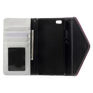 Luxusní peněženkové pouzdro na Huawei P8 Lite - bílé / rose - 4