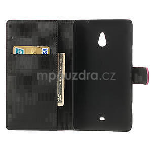 Peňaženkové puzdro pre Nokia Lumia 1320- ružové - 4