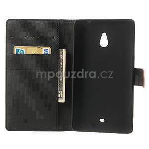 Peňaženkové puzdro pre Nokia Lumia 1320- hnedé - 4