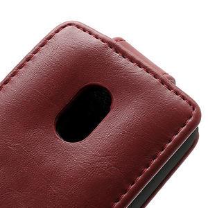 Flipové puzdro na Nokia Lumia 620- červené - 4