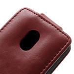 Flipové puzdro na Nokia Lumia 620- červené - 4/5