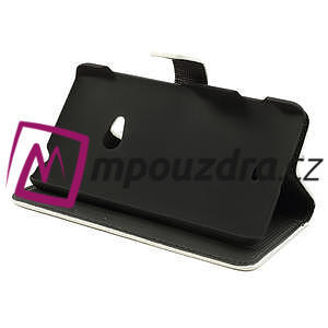 Peňaženkové puzdro na Nokia Lumia 625 - biele - 4