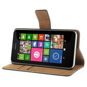 Peňaženkové puzdro na Nokia Lumia 630- čierné - 4