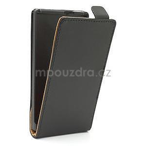 Flipové čierné puzdro pre Nokia Lumia 925 - 4
