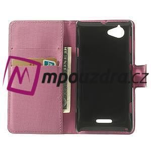 Peňaženkové puzdro na Sony Xperia L C2105- kvetoucí větvička - 4