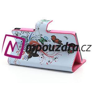 Peňaženkové puzdro pre Sony Xperia Z C6603 - farební motýľe - 4