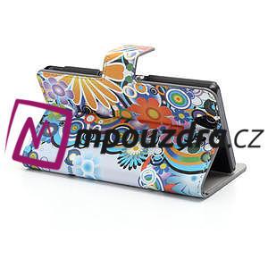 Peňaženkové puzdro pre Sony Xperia Z C6603 - farebné vzory - 4