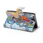 Peňaženkové puzdro pre Sony Xperia Z C6603 - farebné vzory - 4/7