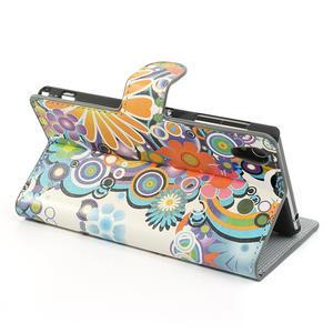 Peněženkové pouzdro na Sony Xperia Z1 C6903 L39- barevné květy - 4