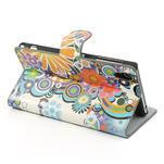 Peněženkové pouzdro na Sony Xperia Z1 C6903 L39- barevné květy - 4/7
