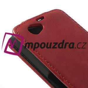 Flipové pouzdro na Sony Xperia Z1 Compact D5503 - červené - 4