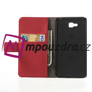 Peňaženkové puzdro na LG Optimus L9 II D605 - červené - 4