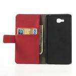 Peňaženkové puzdro na LG Optimus L9 II D605 - červené - 4/7
