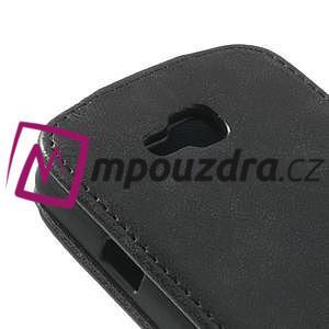 Flipové kožené puzdro na LG Optimus L9 II D605 - čierné - 4