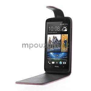 Flipové puzdro pre HTC Desire 601- růžové - 4