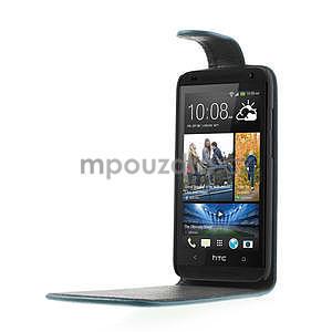 Flipové puzdro pre HTC Desire 601- modré - 4
