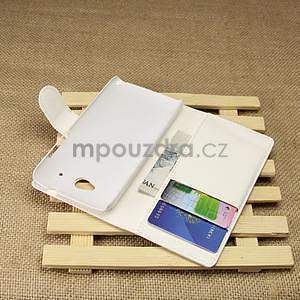 Peňaženkové puzdro pre HTC Desire 601- biele - 4