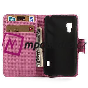 Peňaženkové puzdro pre LG Optimus L5 Dual E455-barevní motýli - 4