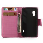 Peňaženkové puzdro pre LG Optimus L5 Dual E455-barevní motýli - 4/5