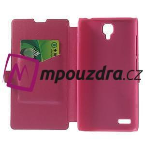 Peňaženkové puzdro na Xiaomi Hongmi Note- růžové - 4